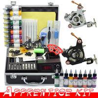 2 Guns Professional Tattoo Machine Kit 9 Colors 30ml Inks Power Tips needles Supply Tattoos set Equipment free shipping by DHL