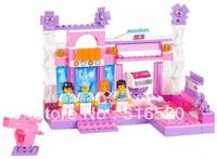 Sluban Pink Dream Series Florid Stage Building Block Sets 176pcs Girls Enlighten Educational DIY Construction Bricks toys B0252