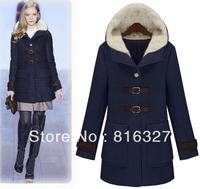 Free Shipping Women's Fashion Woolen Outerwear Winter Slim Fur Collar