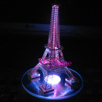 Eiffel Tower Laser Cut brass matal construction model Kit with lights display