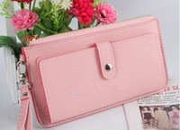 hot selling leather ladies Wallet coin Purses and handbags Clutch bag drop shipping Free shipping W1290