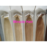 """20"""" 22'' inch #60 Platinum Blond Color PU Tape Hair Glue Skin Weft Hair Human Hair Extensions Indian Remy 100g 40pcs AAA Grade"""