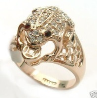Charming Red Eyes Frog Ring 6-9#