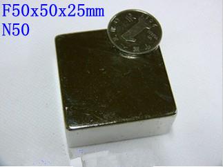 F&P WholeSale Craft Model Powerful Strong Rare Earth NdFeB Block Magnet Neodymium N50 Magnets50x50x25mm