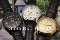 Free shipping PU Leather Quartz watch, CURREN 8121 boy Men&#39;s wrist watch with Calendar watch