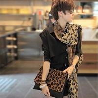 Women's Fashion long soft wrap lady Shawl Silk Leopard Chiffon Scarf Super Prett