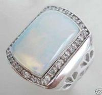 Men's tibet moonstone ring size 7 8 9 10
