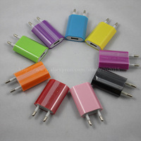 Colorful EU USB AC wall charger for iPhone 5 4G 4S 3GS iPod