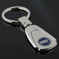 Free Shipping +(10Pcs/Lot)HOT SELLING! Fiat alloy CAR LOGO Keyring /k3D key chains badge,54 models Mixed Wholesale