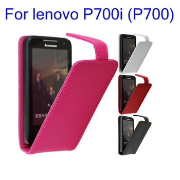 Top quality genuine leather case for Lenovo p700 P700i mobile phone FREE SHIPPING