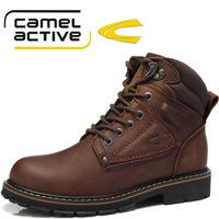 New Winter Warm Casual Men Shoes Camel Active Brand Genuine Leather Brown Boots For Men Has Fur inside Free Shipping DHL/FEDEX