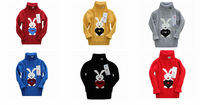 wholesale baby boys girls turtleneck pullover rabbit sweaters for winther autumn