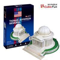 Cubic Fun  3d puzzle paper jigsaw diy toy  architectural model  Jefferson Memorial C108h U.S. construction educational toys