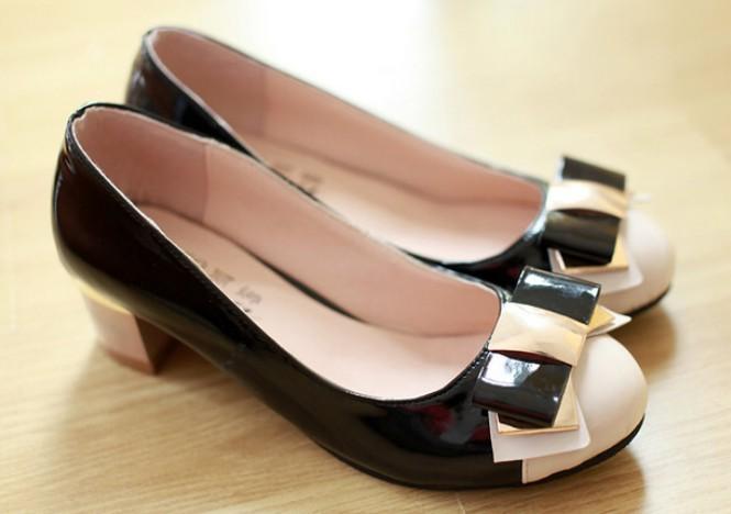 Fashion women high heel shoes bowknot Crude anti-skidding comfort wedge sweet shoes Hot Ks02(China (Mainland))