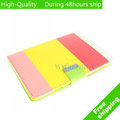 High Quality Korea Style Leather Wallet Credit Card Case Stand For Apple ipad Mini Free Shipping DHL EMS CPAM HKPAM