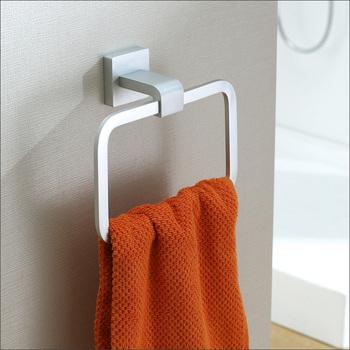 Modern design Aluminium squre towel ring bathroom holder decorative bathroom accessories satin brush matt surface