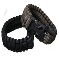 Survival Bracelets Desert Camo Camping Paracord Cord Bracelets Whistle Buckle Survival 2pcs
