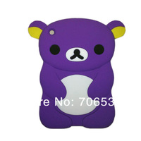 Lovely 3D Cute Rilakkuma Bear Silion Cover For iPad Mini