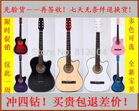 free shipping 38 cutaway acoustic guitar
