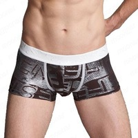 Мужские боксеры 2pcs/lot Uznavy stripe sexy bags 100% cotton 100% cotton male panties briefs panties male 13004