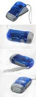 50 pcs/lot 3 Bright LED Hand Press No Battery Flashlight Wind Crank Dynamo Torch
