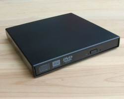 Free shipping USB 2.0 Laptop IDE interface CD ROM DVD RW BD RW Drive External Slim Case(China (Mainland))