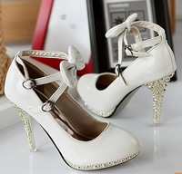 Free shipping Fall 2012 new women's high-heeled shoes , women Asakuchi lace women's shoes 34-39