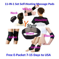 11-In-1 Tourmaline Set Massage Heating Belts with Tormaline and Magnetic Therapy for Keeping Warm & Healthy Free Shipping 1 Set