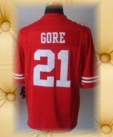 Brand New San Francisco Football Jerseys 21 Frank Gore Red  Limited Jerseys