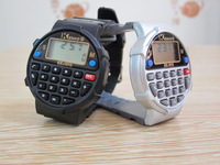 Emergency electronic watch calculator watch electronic clock