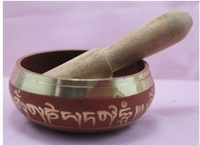 Old Buddhist supplies Tibetan Copper Singing Bowl L@@K