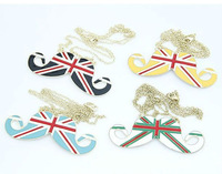 N401028 uk flag necklaces american flag necklace MOUSTACHE NECKLACE FREE SHIPPING