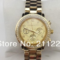 2012 New Arrival Watch With diamond ,Japan Movement ,Heavy weight 4 colors in stock Christmas gift freeshipping