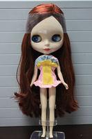 (free shipping CPAM)  blythe small dolls b female lyrate brown pigment doll