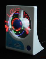 Free Shipping LED flashing message fan mini fan flashing fan new novelty