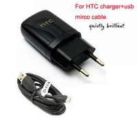 High Quality EU Wall Charger+Micro Usb Cable For HTC G7 G9 G11 G13 G14 G20 USB MIRCO by Free shipping,10pcs/lot
