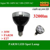 Newest High power LED Spot lamp light PAR30 35W 3400lm Epistar led chip for track light