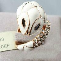 JZ0256649 ladies beautiful finger ring crystal white snake ring FREE SHIPPING