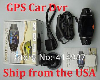 "HD Car Cvr GPS Car Dvr Dual Lens SC310 Camera Recorder 2.7"" LCD DVR Video Dashboard Vehicle Camera Ship from the USA"