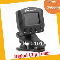Free shipping Digital Clip Chromatic Guitar Bass Violin Tuner ET-3100C ,MOQ=1