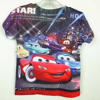 in stock! boy s&girls Auto T shirt, Children's T-shirt, short sleeve T-shirt, Size 6 8 10 12 14,for 2-8years 5pcs/lot