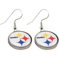 The Pittsburgh steelers team enamel pendant earrings/wholesale