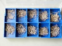 500X Hooks Per Bronze Hooks FishHooks Fishing Hooks Stainless Carbon Hooks With EYE
