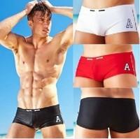 AUS020 A letter men's swimwear  boxer men's swimwear  5 color 4 size