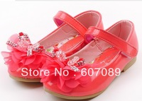 free shipping  children&#39;t  girl shoes  pu kid girl sandal  princess shoes  size 16cm -18cm