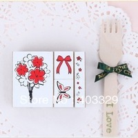 Korea somssicard sweet flowers rubber stamps 4 pcs in a set 50g