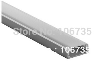 Free shipping by Fedex MOQ10m Wholesale 6mm recessed Flat Aluminium LED Profile for led strip with frosted cover and accessories