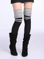 free shipping,Fashion step feet trample ankle sock over the knee boots socks female long socks foot wrapping sets