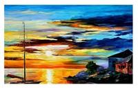 Landscape Modern Hand-painted Abstract Group wall art Deco Art DP205