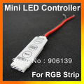 Wholesale DC 12V LED Mini Controller For RGB 5050/3528 SMD Strip Light